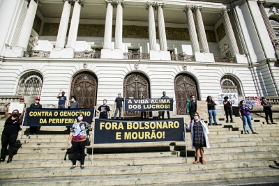 Servidores realizam protestos contra as políticas do governo Bolsonaro
